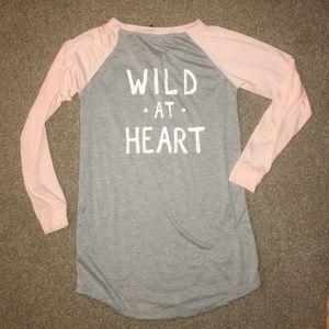 "NWT Rag ""Wild at Heart"" SZ M nightshirt"